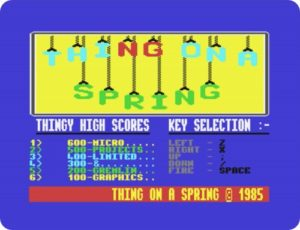toas01 300x230 - Thing on a Spring (C64, 1985)
