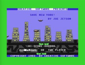 sny1 300x230 - Save New York (C64, 1983)