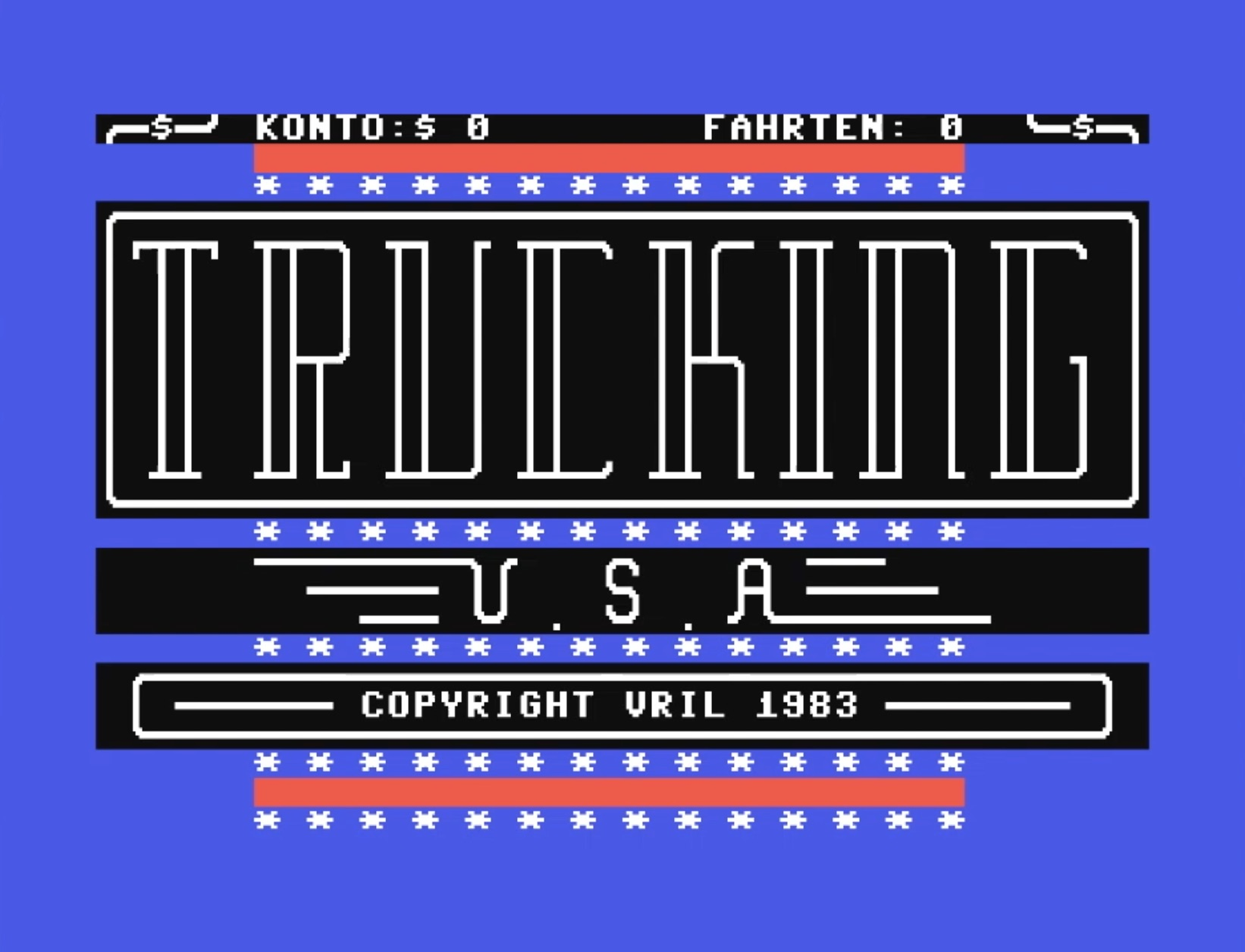 Trucking U.S.A. (C64, 1983)