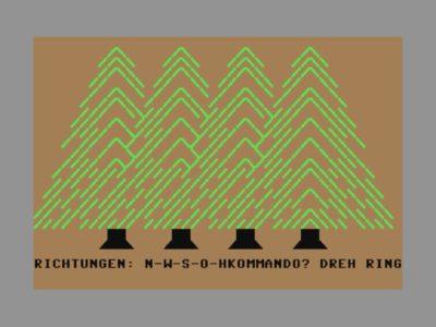 Dreht man den Ring, entflieht der Spieler dem Zeichensatz-Wald