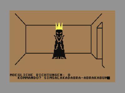 Der böse Zauberer höchstpersönlich kann nur mit dem richtigen Zauberspruch besiegt werden