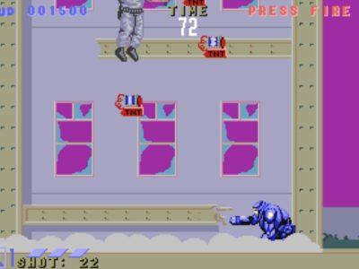 Dieses Haus stürzt in Zeitlupe ein. Warum genau ist Amiga-Version genauso ein Rätsel wie der Verbleib des Endgegners...