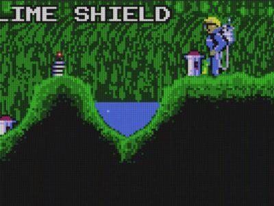 Neben diversen Powerups sind in der Slime-World auch klare Becken verstreut, um den schleimigen Held abzuwaschen.