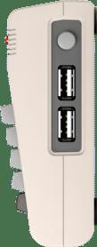 Die Seite des TheC64 mit den beiden USB Ports