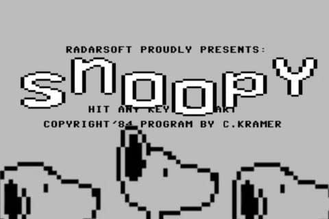 snoopybb 480x320 - Snoopy (C64, 1984)