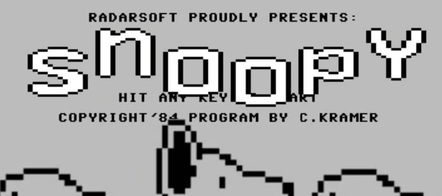 snoopybb 900x400 - Snoopy (C64, 1984)