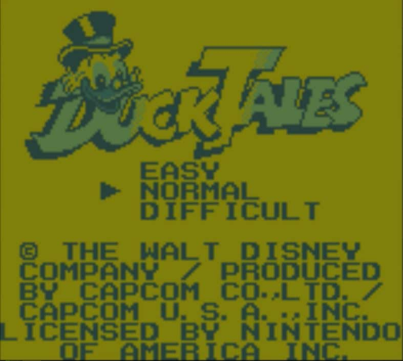 duckt01 - DuckTales (GameBoy, 1990)