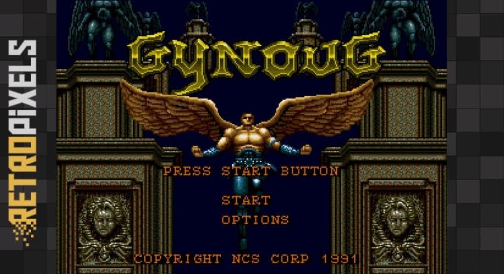 gyntitle e1525567949905 1024x558 - Gynoug (Sega MegaDrive, 1991)