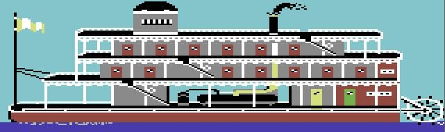 motm2 - Murder on the Mississippi (C64, 1986)
