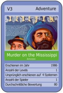 motmcard 203x300 - Murder on the Mississippi (C64, 1986)