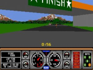 Hard Drivin 14 300x225 - Crossover - Superspecial: Hard Drivin' (C64/PC, 1989)
