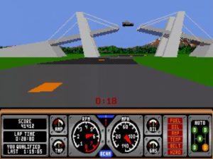 Hard Drivin 18 300x225 - Crossover - Superspecial: Hard Drivin' (C64/PC, 1989)