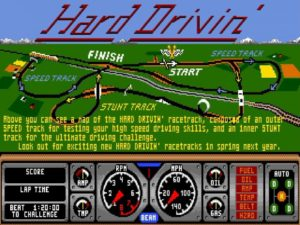 Hard Drivin 2 300x225 - Crossover - Superspecial: Hard Drivin' (C64/PC, 1989)