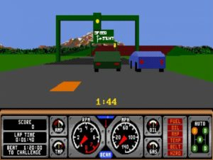 Hard Drivin 4 300x225 - Crossover - Superspecial: Hard Drivin' (C64/PC, 1989)