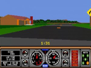 Hard Drivin 5 300x225 - Crossover - Superspecial: Hard Drivin' (C64/PC, 1989)