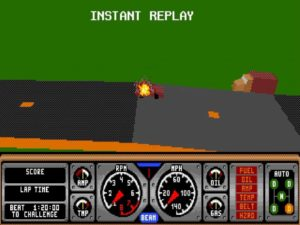 Hard Drivin 9 300x225 - Crossover - Superspecial: Hard Drivin' (C64/PC, 1989)