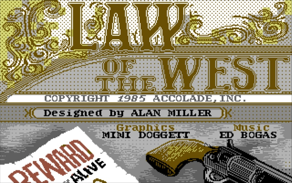 K lotwtitle006 - Law of the West (C64, 1985)