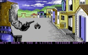 K lotwtrigger001 300x187 - Law of the West (C64, 1985)