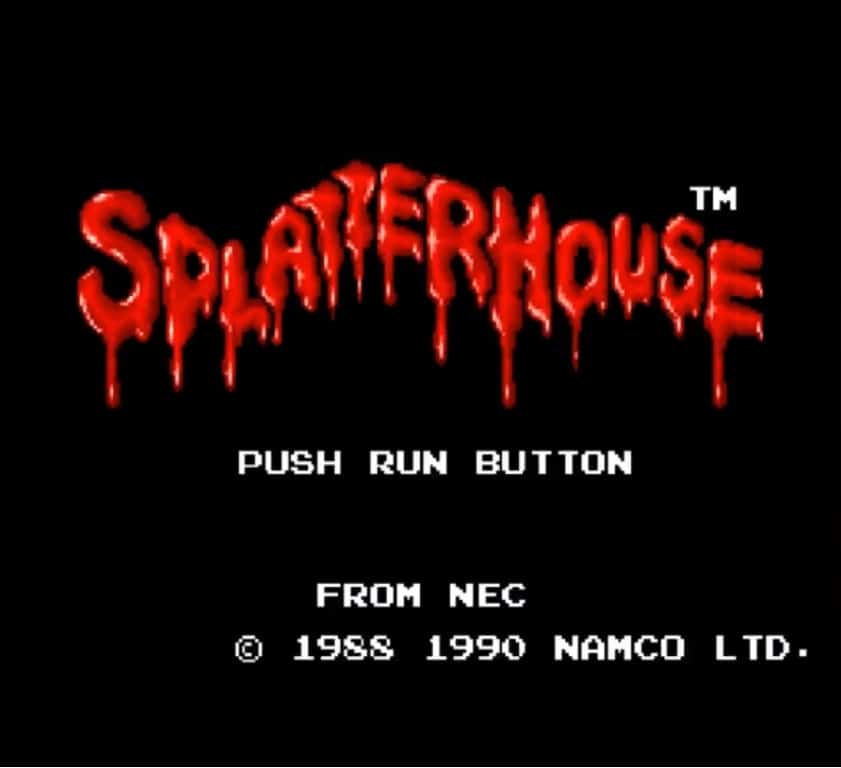 K splattitle001 - Splatterhouse (PC Engine,1990)