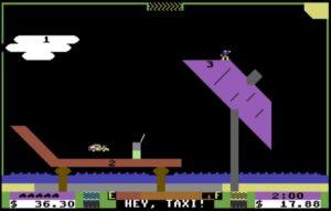 stbeach001 300x191 - Space Taxi (C64, 1984)