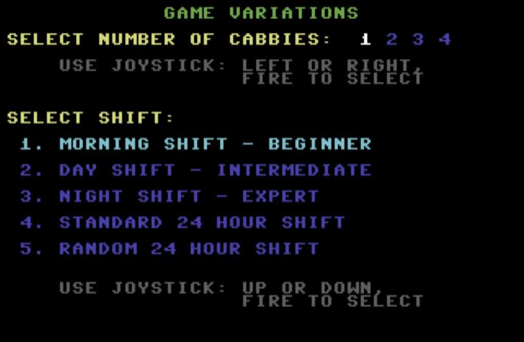 stvariations006 1024x669 - Space Taxi (C64, 1984)