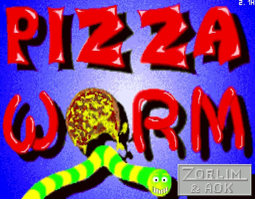 pworm01 1024x800 - Pizza Worm (MS DOS, 1994)