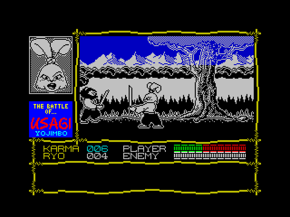 us1 - Samurai Warrior: The Battles of Usagi Yojimbo (C64, 1988)