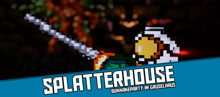 Splatterhouse2000 900x400 - Splatterhouse - Bukkakeparty im Gruselhaus